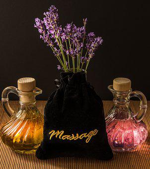 Wellness, Carafe, Purple, Herbs, Massage, Spa, Light