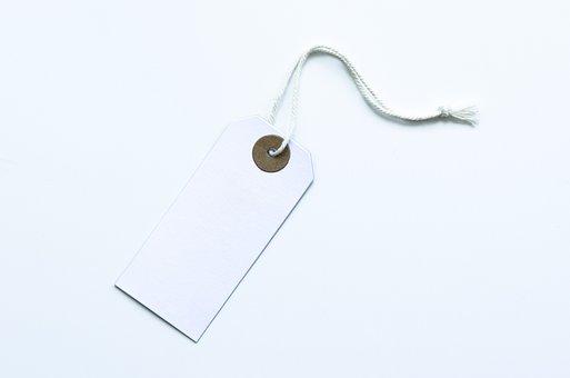 White Label, Blank, Label, White, Design, Paper