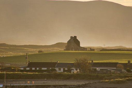Farm, Landscape, Ireland, Rural, Sunlight