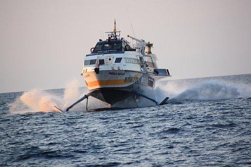 Eolienne, Sicily, Boat, Mediterrannée