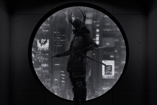 Fantasy, Samurai, Mystical, Composing, Photomontage
