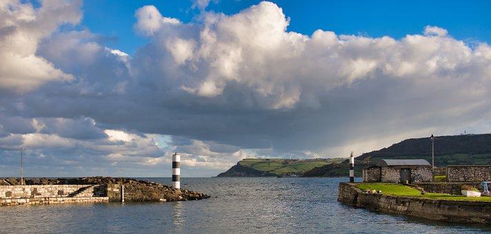 Port, Coast, Northern Ireland, Sky, Landscape