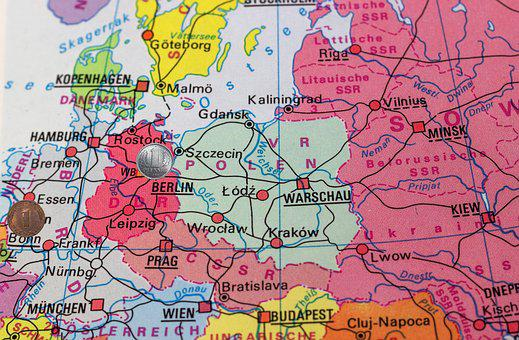 Borders, Old, Ddr, Federal Republic Of Germany, Germany