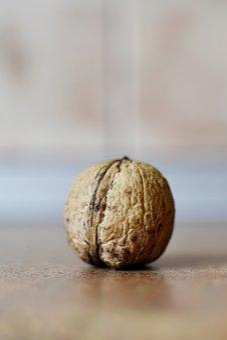 Nut, Walnut, Omega Source, Food, Vitamins, Snack, Brown