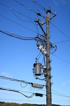 Pole, Power Line, Substation Equipment, Industrial