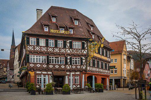 Nagold, Black Forest, Post, Hotel Post, Truss
