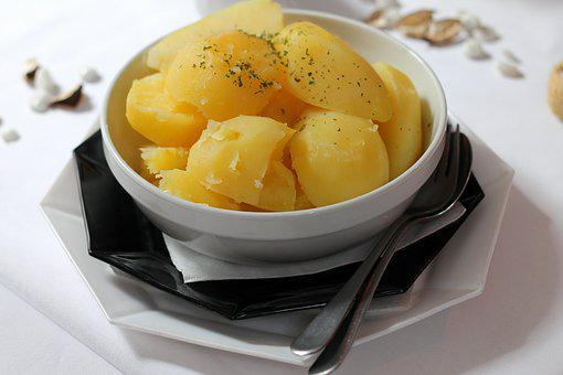 Potatoes, Cooked, Parsley, Herbs, Food, Eat, Meal