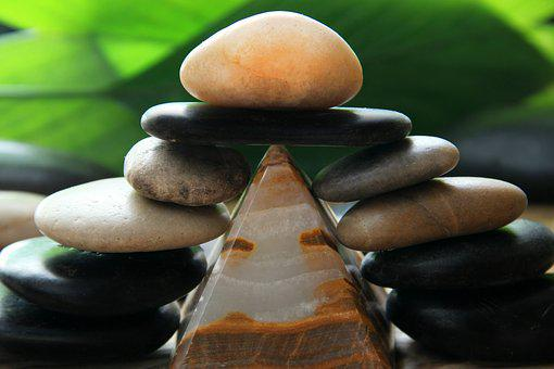 Stones, Pyramid, Relaxation, Deco, Color, Background
