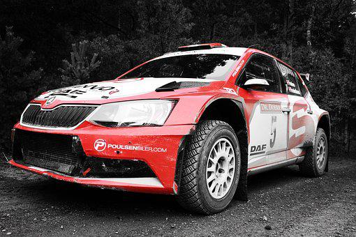 Rally, Lausitz Rally, Skoda, Racing Car, Vehicles