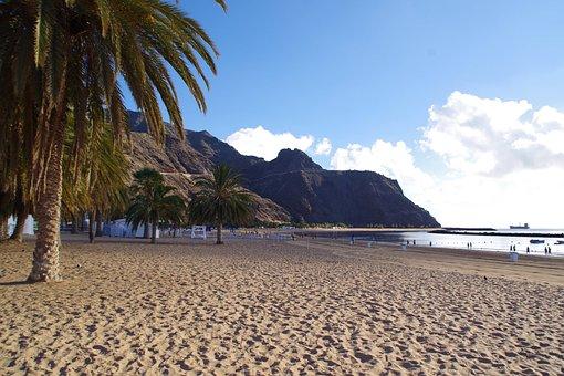 Tenerife, Las Teresitas, Water, Beach, Sand Beach