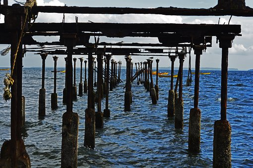 Chile, Puerto Montt, Cove, Sea