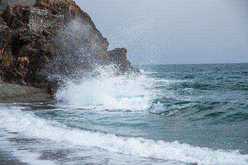 Mediterranean, Italy, Liguria, Sea, Wave, Surf, Spray