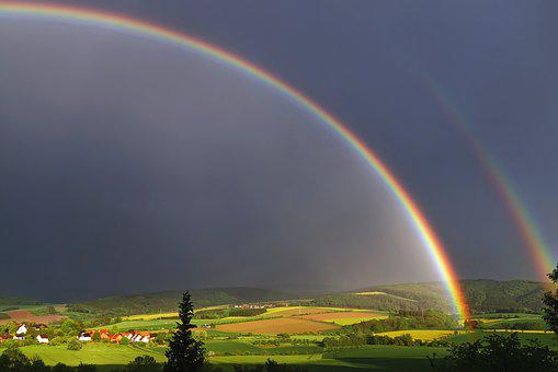 Weather Photography, Rainbow, Nature, Landscape, Sky