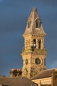 Steeple, Church Clock, Sky, Clock, Clock Tower, Sligo