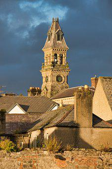 Steeple, Church Clock, Sky, Clock, Clock Tower, Sligo
