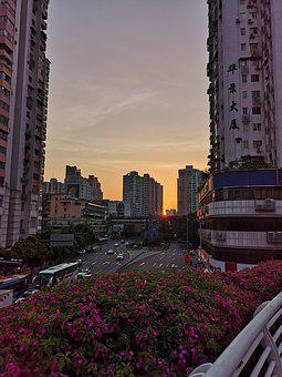 Canton, Sunset, Street
