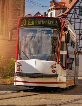 Tram, Traffic, Transport, City, Vehicle, Travel, Road