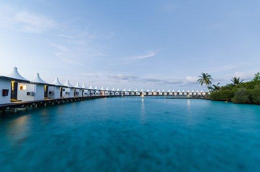 Maldives, Ha Kula Island, Water House, Views