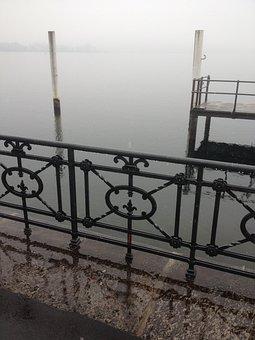 Lake, Water, Nature, Outdoors, Geometry, Fog