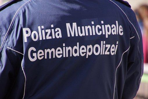 Municipal Police, Gemeindepolizei, Written, Back