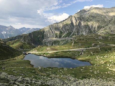 The St Gotthard Massif, Alpine Route, Alps, Alpine