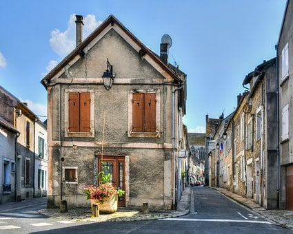 House, Lane, Street, Old, Facade, Architecture, Former