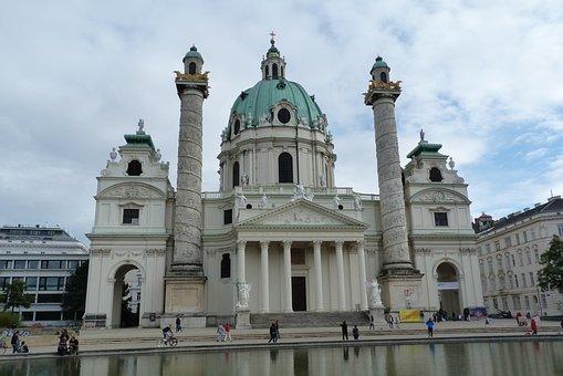 Vienna, Karlskirche, Austria, Church, Architecture
