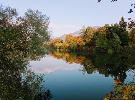 Mur, Frohnleiten, Autumn, Autumn Colours, River
