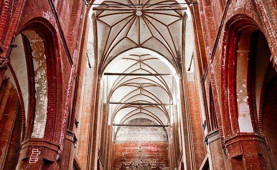 Church, Gothic, Architecture, Religion, Brick, Red