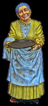 Figure, Grandma, Operation, Old Woman, Ceramic