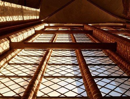 Architecture, Church, Gothic, Window, Light, Grid
