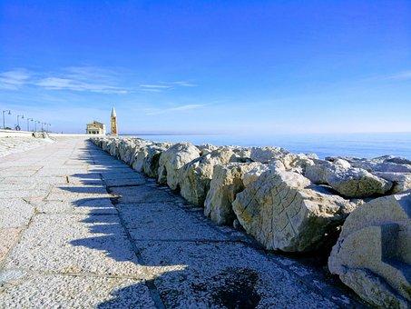 Church, Sea, Sky, Reef, Sculpture