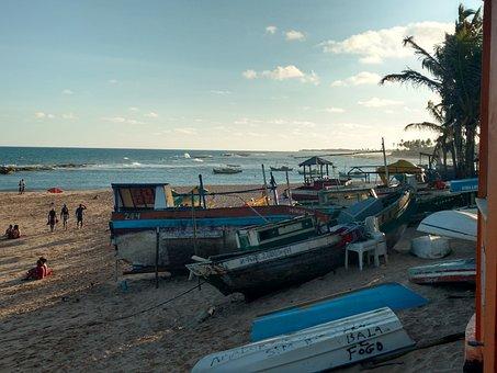 Beach, Ceu, Mar, Sky, Landscape, Water, Clouds, Humor