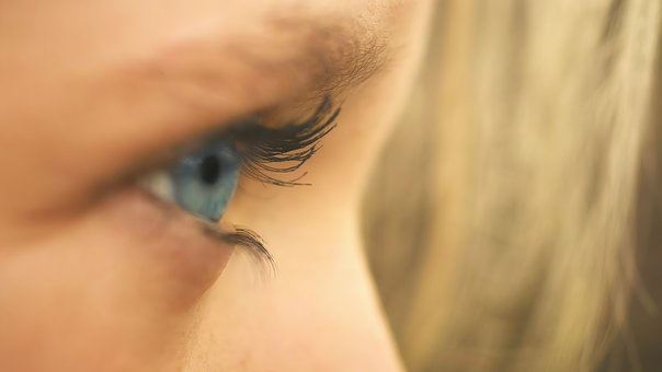 Eye, Girl, Blue, Face, Close Up, Hair, Detail, Portrait