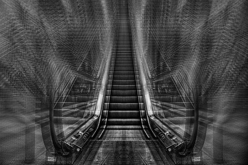 Escalator, Stairs, Railway Station, Movement