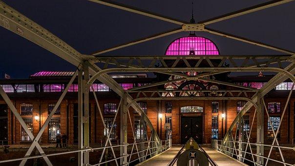 Fish Auction Hall, Hamburg, Building, Architecture