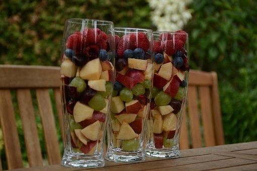 Fruit, Blueberries, Berry, Foodstuffs, Dessert