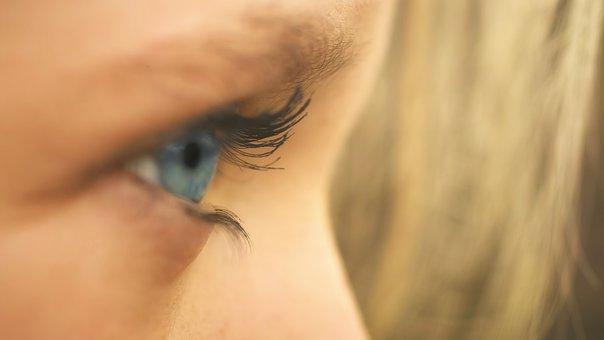 Eye, Girl, Blue, Face, Close Up, Hair, Detail, Portrait