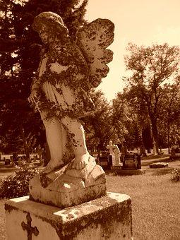Graveyard, Grave, Angel, Cemetery, Headstone, Stone