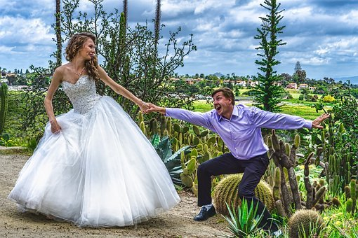 Bride, Wedding, Dress, Girl, Woman, Action, Groom, Man