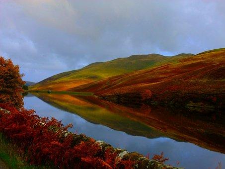 Pentlands, Heide, Water Reservoir, Rest, Nature, Hole