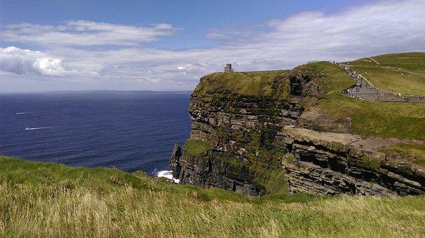 Cliffs Of Moher Munster, Ireland, Sea