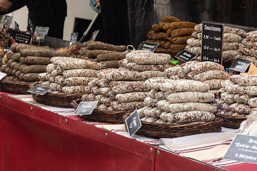 Sausages, Saucisson, Delicatessen, Market Day