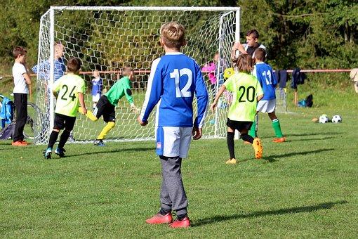 Football, Prep, Children, Match, Goal, Boy, Play