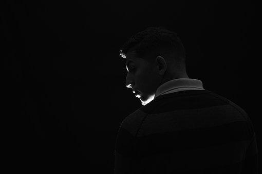 Silhouette, Portrait, Man, Model, People, Black, Scene