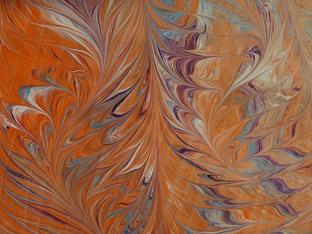 Marbled Paper, Mottle, Color, Movement, Colorful