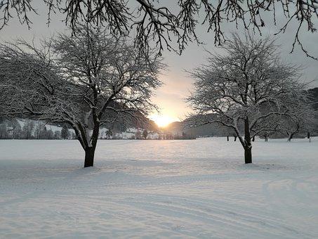 Winter, Landscape, White, Mountain Peaks, Mountains