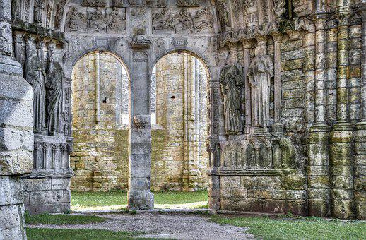Church, Pierre, Sculpture, Old, Door, Opening, Former