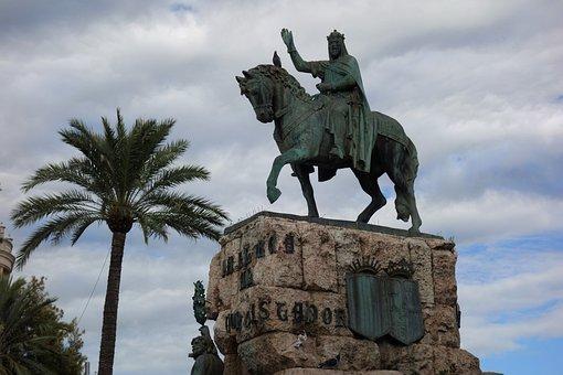 Placa Espana, Palma, Mallorca, Jaime I