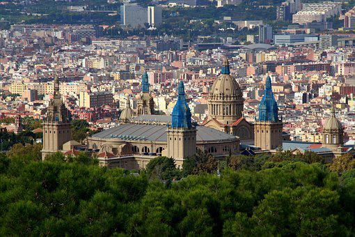 Barcelona, Panorama, Top, Architecture, City, Spain